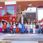 Visiting the firefighters