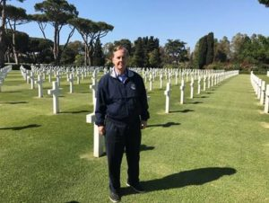 Congressman Pittenger lays at Sicily-Rome American cemetery